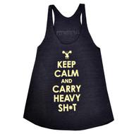 AnFarm Apparel | Women's Keep Calm Tank Tri-Indigo