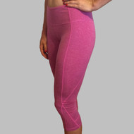 Born Primitive | Double Take Capris (Heather Fuchsia)