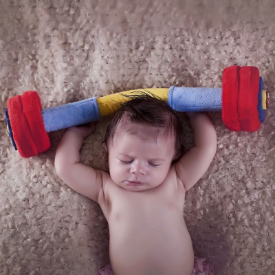 WOD Toys | Plush Barbell Baby Toy