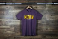 "Nefrin Apparel | Men's ""City Series LA"" Tee - Purple/Yellow"