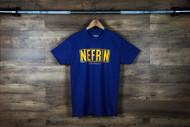 "Nefrin Apparel | Men's ""City Series LA"" Tee - Blue/Yellow"