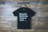 "Nefrin Apparel | Men's ""Squat&Snatch&Clean&Jerk"" Tee"