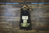 "Nefrin Apparel | Women's ""HIGH ON SWEAT"" Tank - Black"