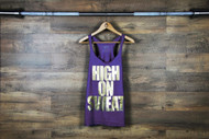 "Nefrin Apparel | Women's ""HIGH ON SWEAT"" Tank - Purple"