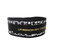 "Unbroken Designs | Dia De Los Muertos 4"" Velcro Weightlifting Belt"