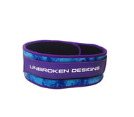 "Unbroken Designs | Purple Ombre 4"" Velcro Weightlifting Belt"