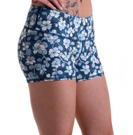 Functional Apparel Booty Shorts - Blue Flower Shorts Side