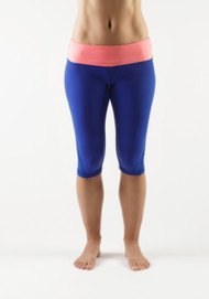 WOD Gear | Blue and Coral Women's Runner Crop Pants