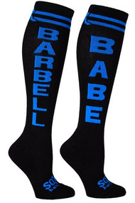 The Sox Box | Barbell Babe Socks - Black/Blue