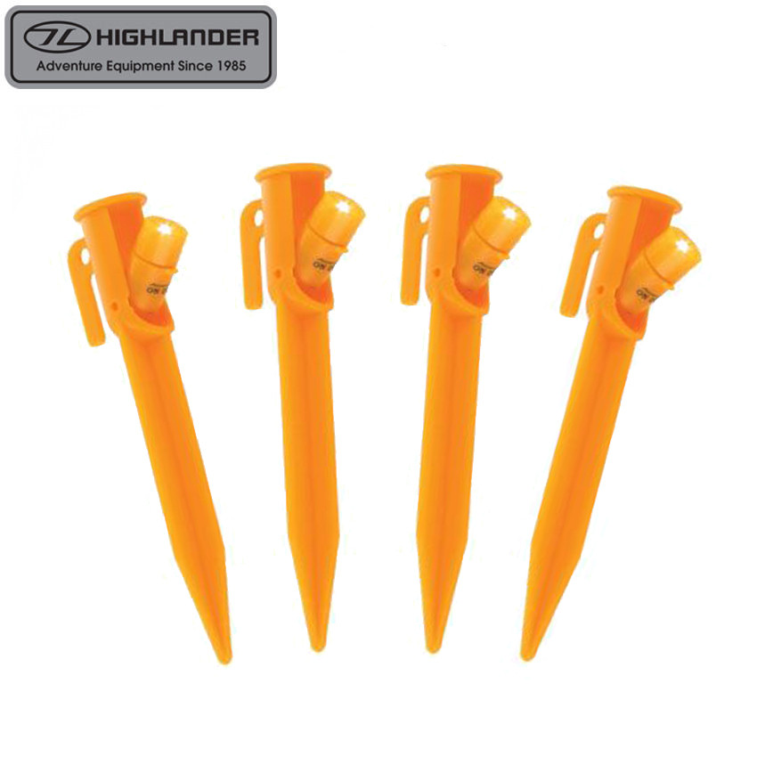 HIGHLANDER LED TENT PEGS ...  sc 1 st  Outdoors Ramsey & HIGHLANDER LED TENT PEGS 4 PACK