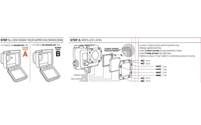 HERO3 Lens Replacement Kit