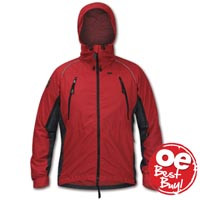 Fuera Ascent Windproof Jacket Chilli Pepper / Cark Grey