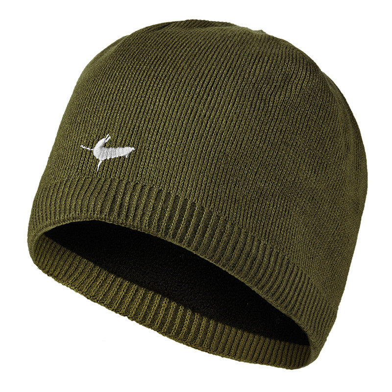 Waterproof Beanie Hat - Olive