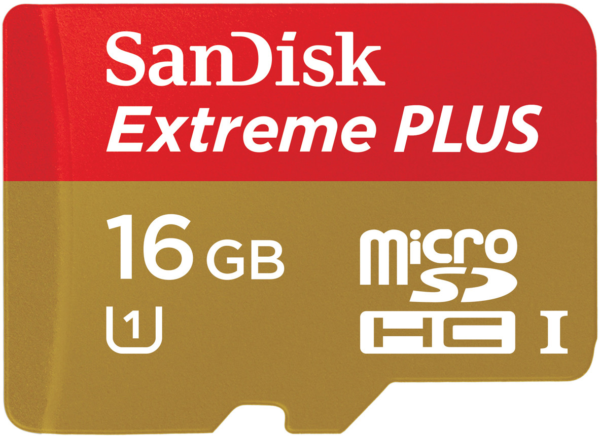 SanDisk 16GB Extreme Plus Micro SD card