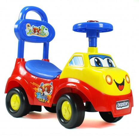 Ride On For Babies And Toddlers - Yellow, Red And Blue Car