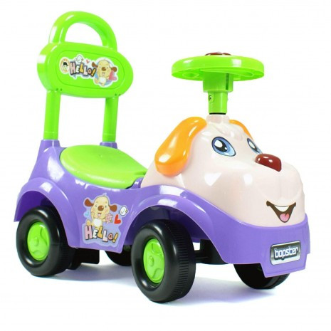 Ride On For Babies And Toddlers - Purple And Green Dog
