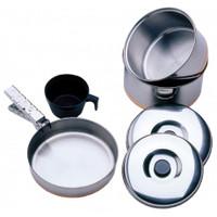 VANGO STAINLESS STEEL 1 PERSON COOK SET