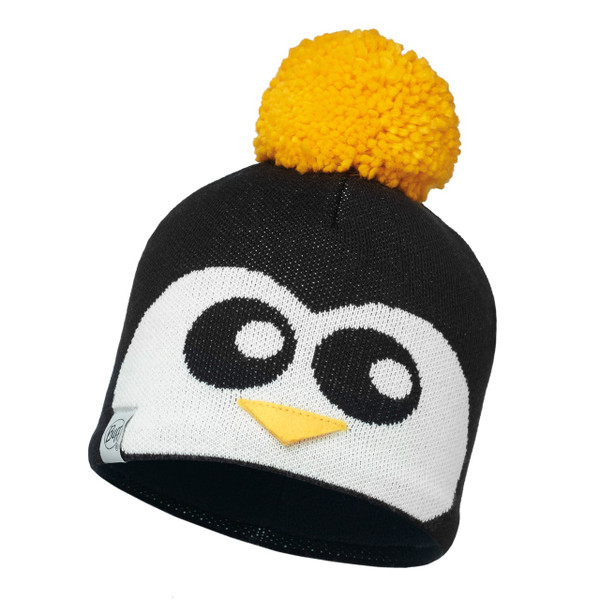 Penguin Black/Black [Jnr Knitted & Polar Hat