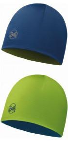 BUFF JUNIOR MERINO REVERSIBLE HAT (LIME / BLUEBIRD)