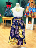 The Purple One - African Print Mid-Length Skirt