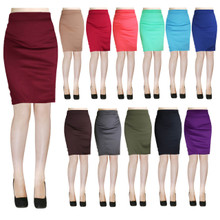 Ponti Bodycon Above Knee Pencil Skirt