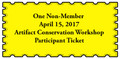 Non-Member Artifact Conservation Workshop Ticket