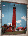 Ponce Inlet Lighthouse Tapestry Throw Blanket