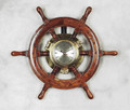 Ship Wheel Clock 19""