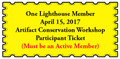 Lighthouse Member Artifact Conservation Workshop Ticket