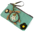 Teal Turtle Clutch