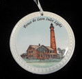 Round Ponce Inlet Lighthouse Ornament
