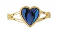 Paua Adjustable Heart Ring