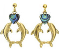 Paua Double Dolphin Earrings