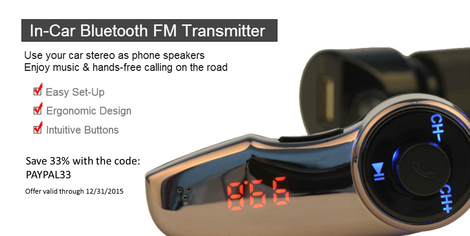 33% Off Bluetooth FM Transmitter