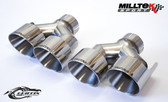 Milltek Sport Audi B8.5 S4/S5 100mm Polished Quad Tip Upgrade Kit