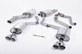 Milltek Sport Audi B8.5 S4 3.0T Resonated, Polished Quad Tip Catback
