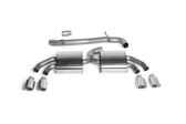 "Milltek Sport Audi TTS MK2 Non-Resonated, Polished Tip 3"" Cat-back Exhaust"