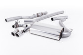 "Milltek Sport 428i ""OE Style"" Non-Resonated Single Outlet Exhaust, Polished Tips, for Automatic Transmission"