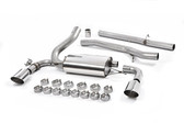 Milltek Sport Ford Focus RS Cat-Back Exhaust, Non-Resonated, Polished GT 115mm Tips