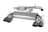 Milltek Sport VW MK7 Golf R Non-Valved, Resonated, Cerakote Black Oval Tip Cat-Back Exhaust