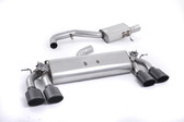 Milltek Sport VW MK7 Golf R Valved, Resonated, Cerakote Black Oval Tip Cat-Back Exhaust