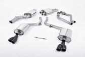 Milltek Sport Audi B8 S4 3.0T Resonated, Cerakote Black Quad Tip Catback