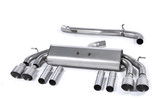 Milltek Sport Audi S3 2.0T Sedan 8V Non-Valved, Non-Resonated Cat-Back Exhaust -  Titanium Quad Tips