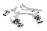 Milltek Sport Audi S6/S7 4.0T Resonated Valvesonic Catback with Polished Tips