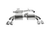 "Milltek Sport Audi TTS MK2 Resonated, Polished Tip 3"" Cat-back Exhaust"