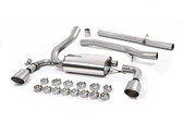 Milltek Sport Ford Focus RS Cat-Back Exhaust, Non-Resonated, Titanium GT 115mm Tips