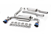 Milltek Sport Ford Focus RS Cat-Back Exhaust, Resonated, Burnt Titanium GT 115mm Tips