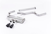 Milltek Sport Ford Focus ST MK3 Cat-Back Exhaust, Non-Resonated, Cerakote Black Tips