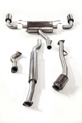 Milltek Sport Subaru BRZ & Scion FR-S Primary Cat-Back Exhaust System, Resonated, Cerakote Black Tips (not legal for road use)