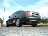 Milltek Sport Audi B7 A4 2.0T Quattro Catback, Resonated, 100MM Jet Style Tips For Tiptronic Cars